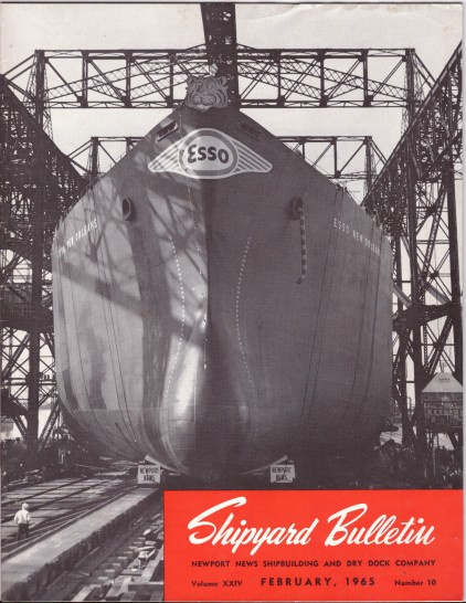 1965 Shipyard Bulleting Cover Esso New Orleans